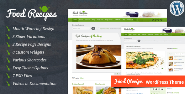Foodrecipe wordpress theme